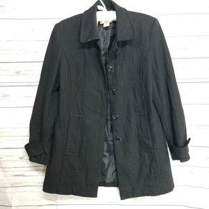 Merona black wool pea coat small